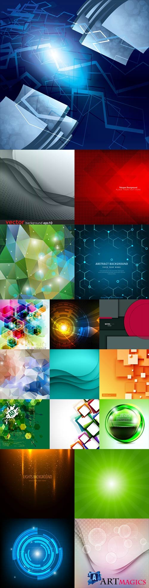 Bright colorful abstract backgrounds vector - 81