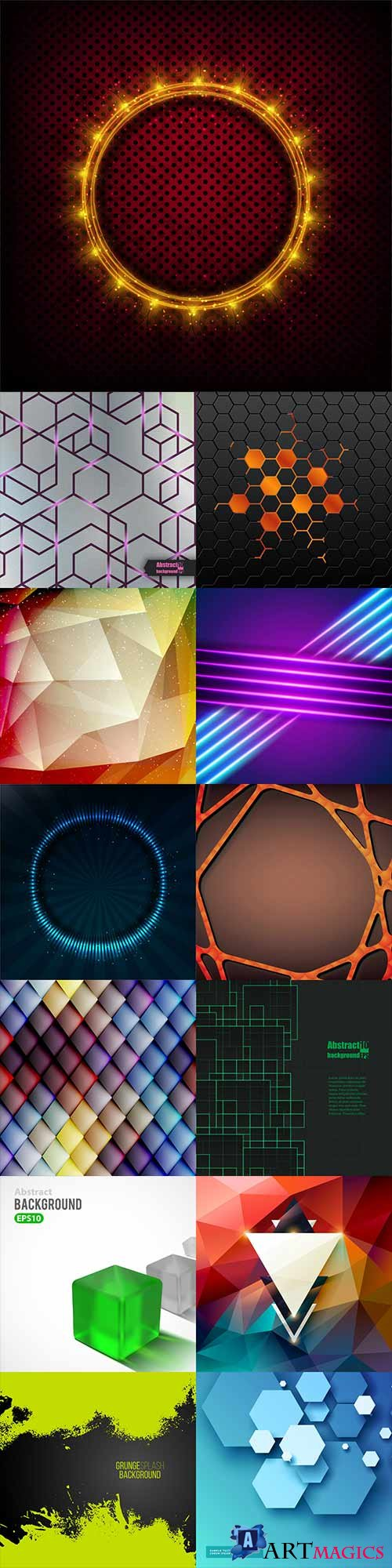Bright colorful abstract backgrounds vector - 79