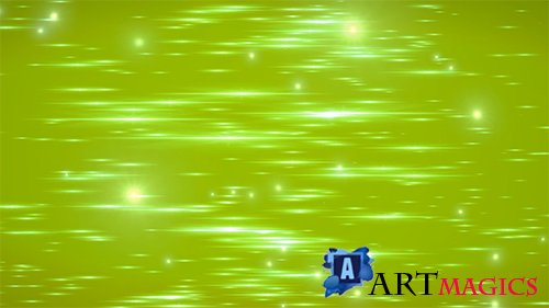 Bright Green Particle Field