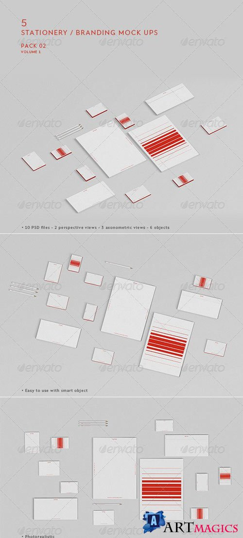 Stationery / Branding Mock-Up - Pack 2 Vol.01