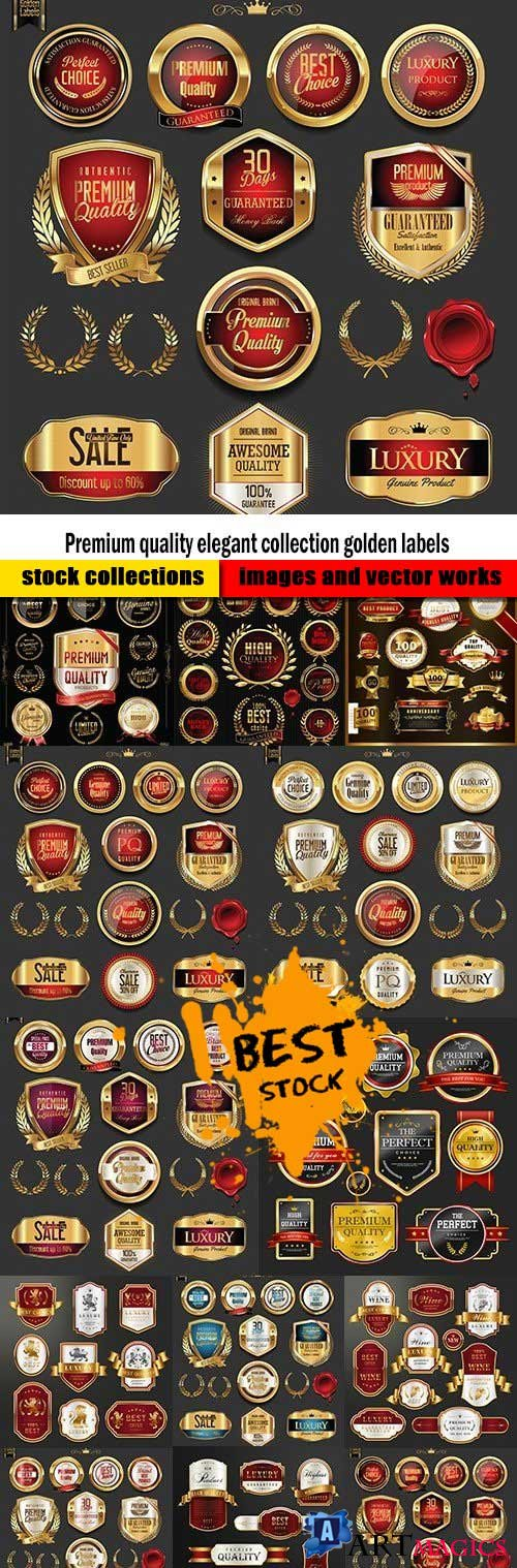 Premium quality elegant collection golden labels