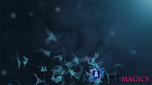 Abstract triangles Motion Background