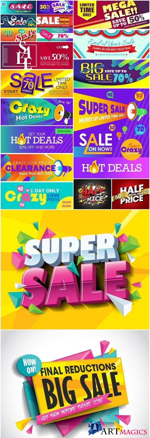 Promotional Sale Sanner Set #8 - 10 Vector