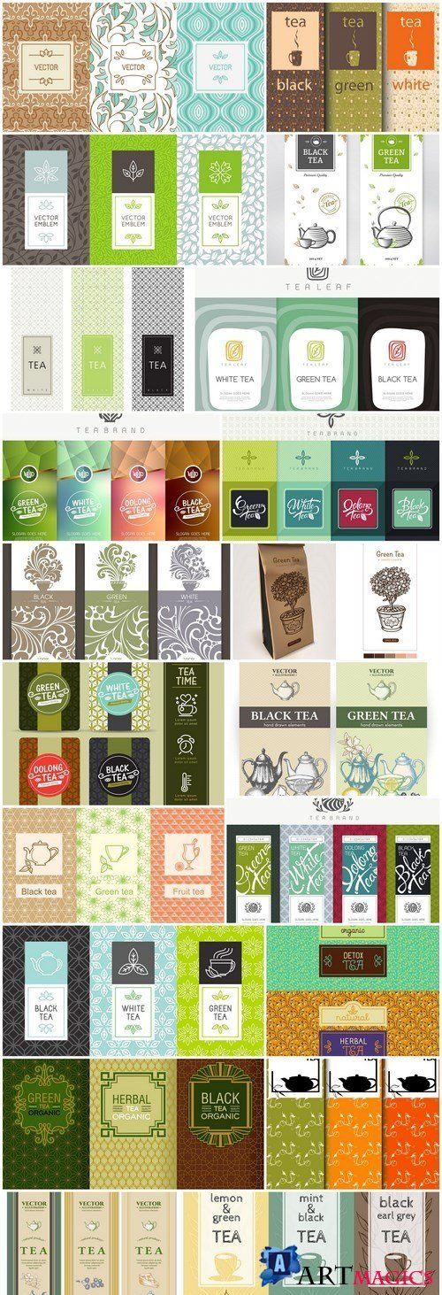 Tea Packaging Template - 20 Vector