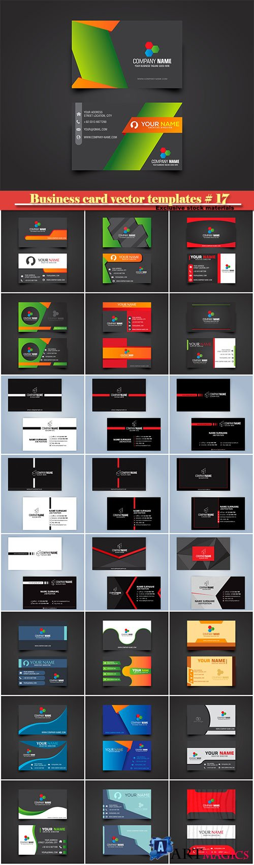 Business card vector templates # 17