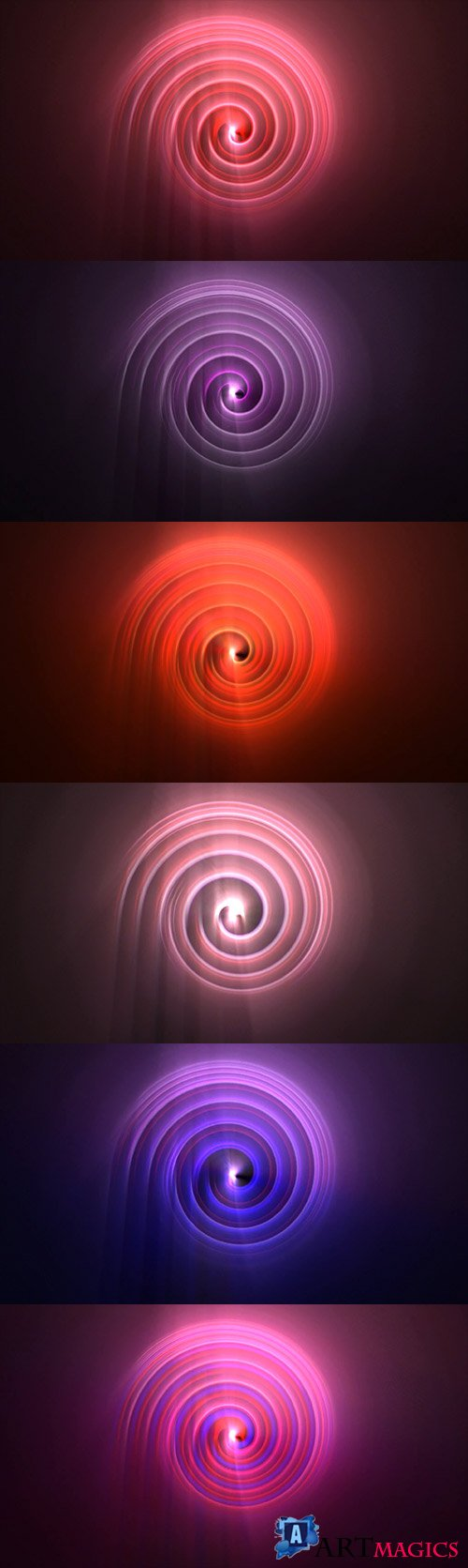 Color Changing Spiral Neon