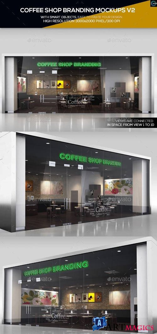 Coffee Shop Branding Mockups V