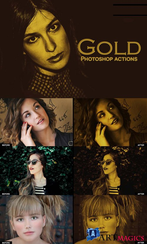Gold Effect Photoshop Actions