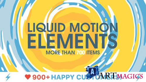 Liquid Motion Elements - Project for After Effects (With 12 June 17 Update) (Videohive)