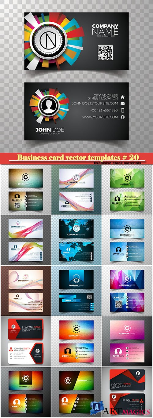 Business card vector templates # 20