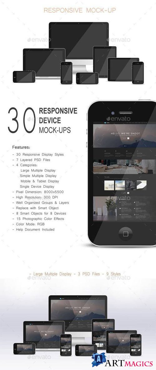 Responsive Devices Mock-ups