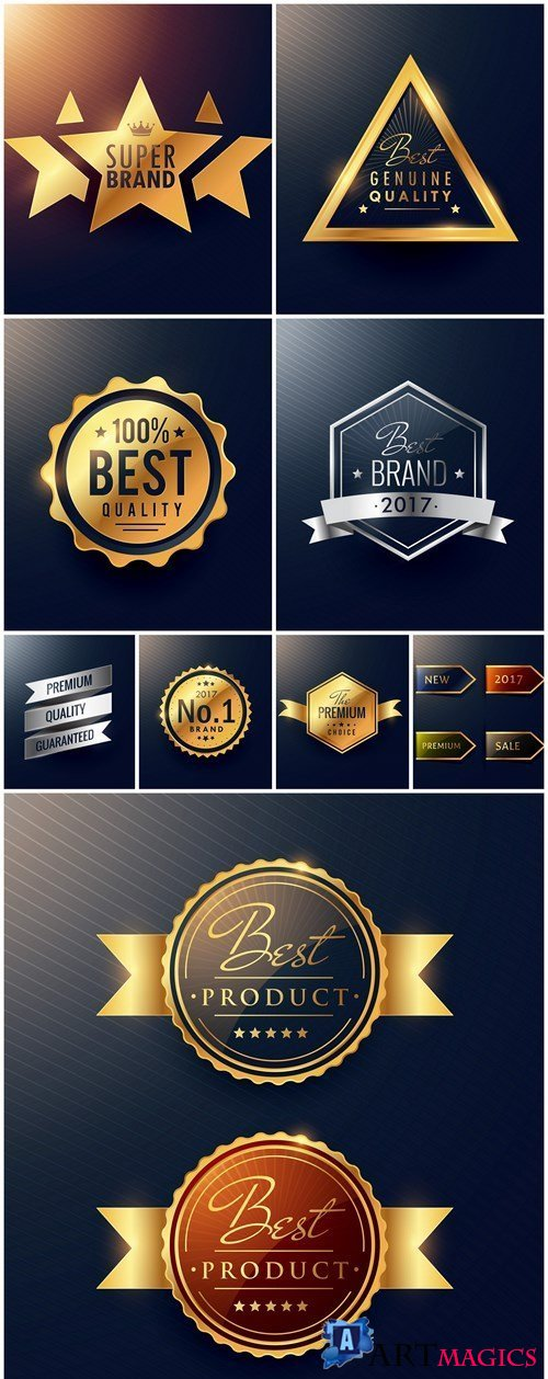 Premium Luxury Label - 9 Vector
