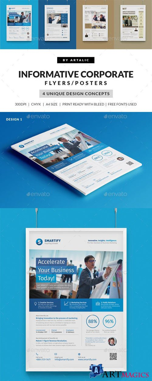 4 Corporate Business Flyers/Posters