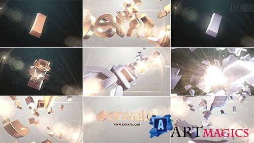 3D Gold And Silver Shatter Logo - Project for After Effects (Videohive)