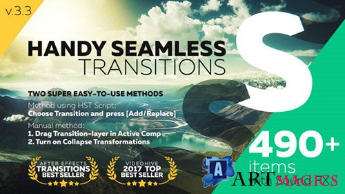 Handy Seamless Transitions | Pack & Script 3.3.2 - Project for After Effects (Videohive)