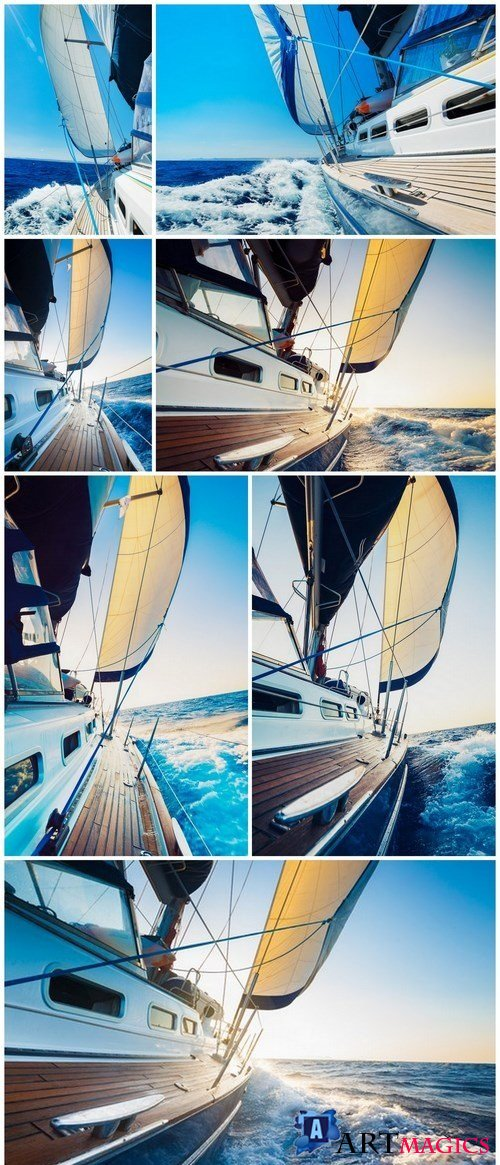 Sailing - 7xUHQ JPEG Photo Stock