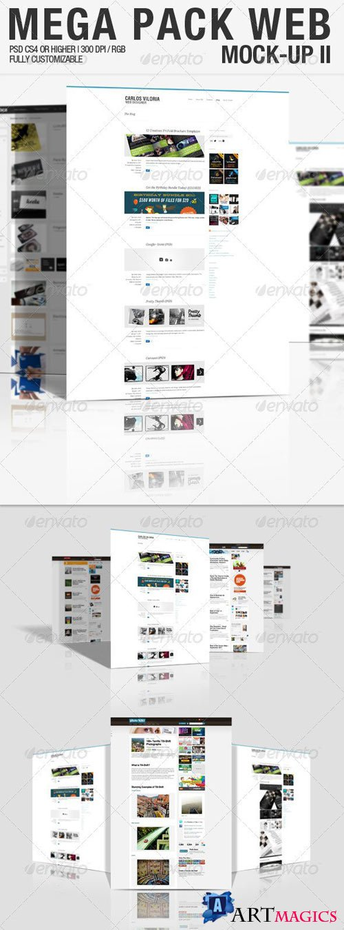 Mega Pack WEB Mock-Up 2