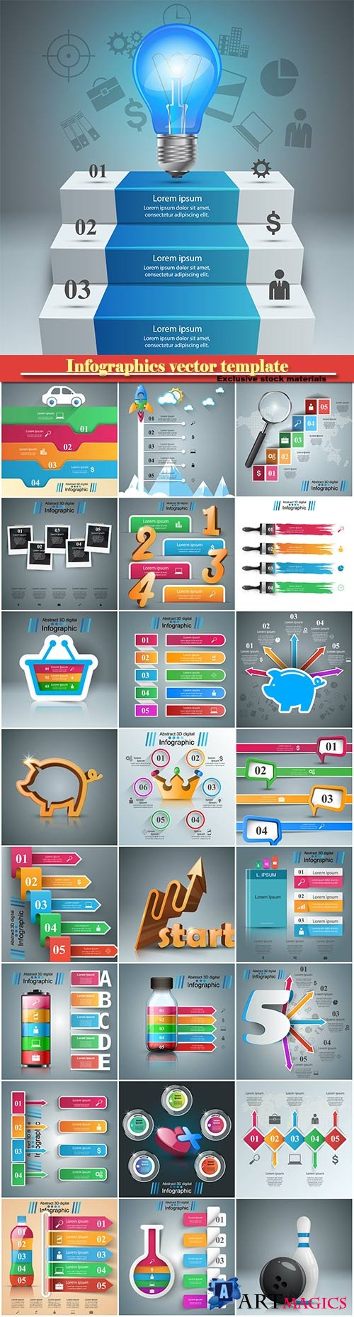 Infographics vector template for business presentations or information banner # 14