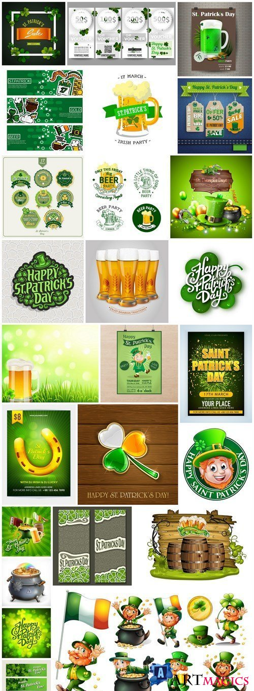 St. Patricks Day Irish Style - 25 Vector