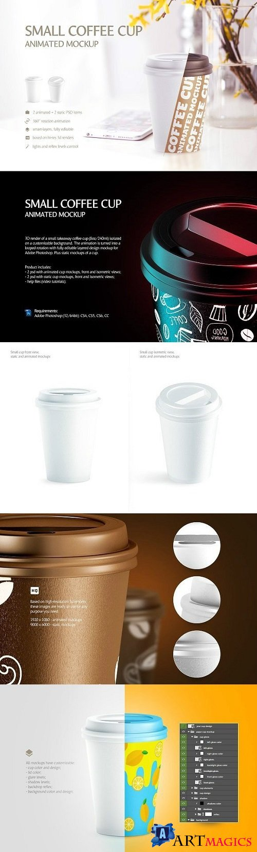 Small Coffee Cup Animated Mockup 1846179 (Full Collection)