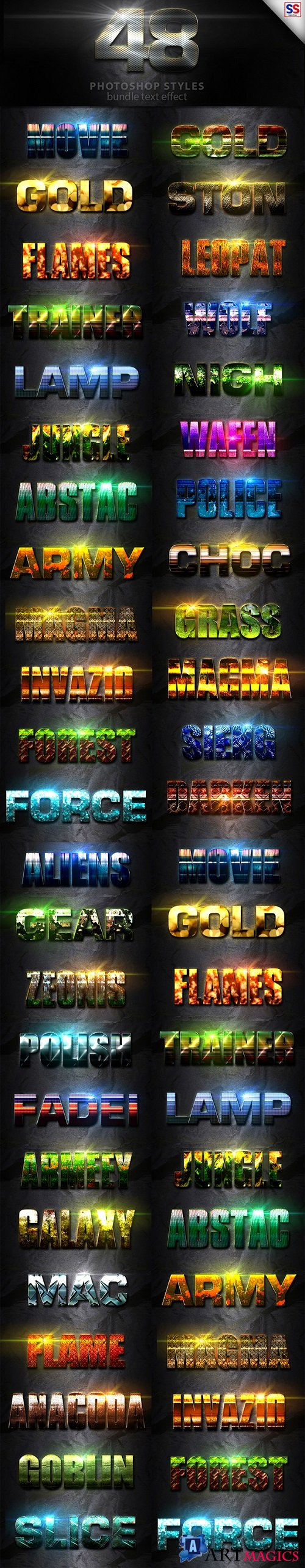 48 Text Effect Bundle Vol 3 - 20009574