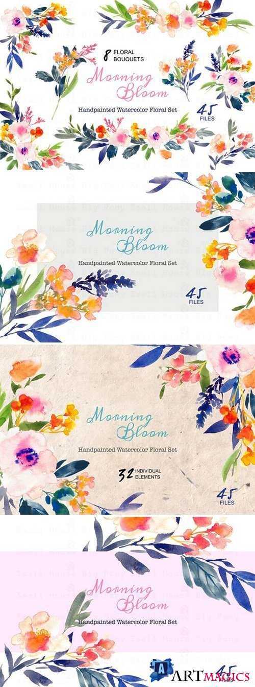 Morning Bloom-Watercolor Floral Set 429467