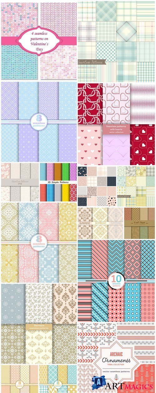 Seamless Pattern Collection #138 - 16 Vector