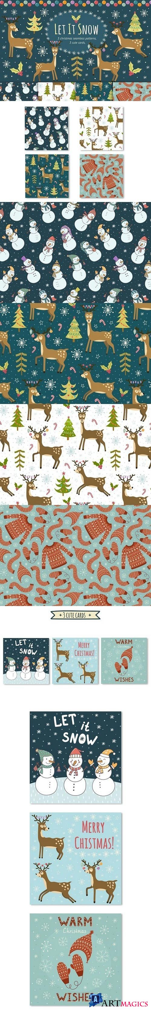 Let It Snow: patterns & cards 964496