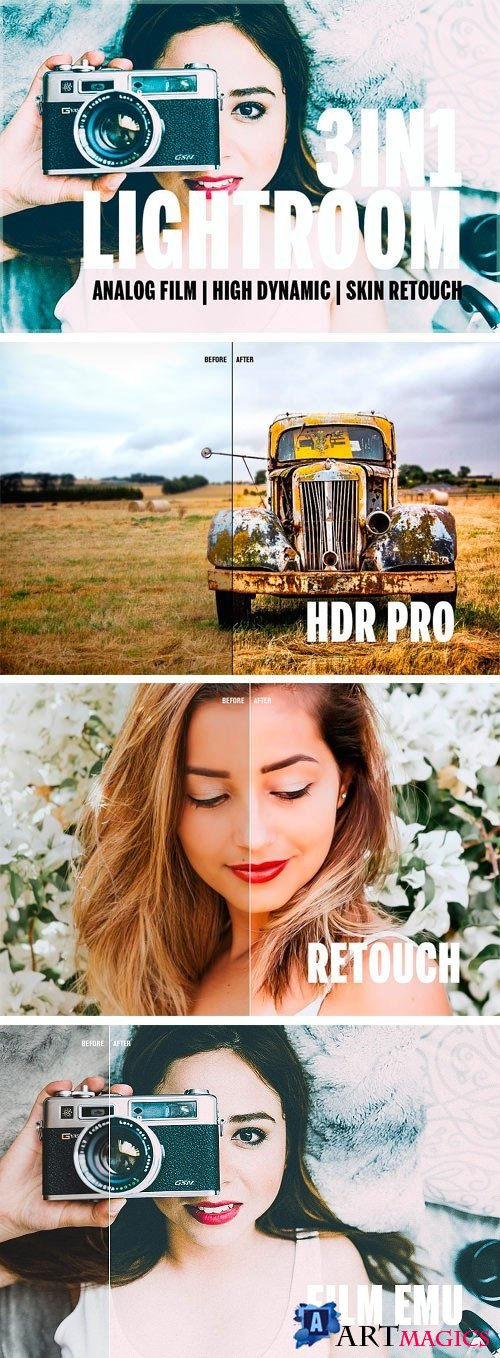 3in1 Lightroom Bundle 90LR Presets 1830216