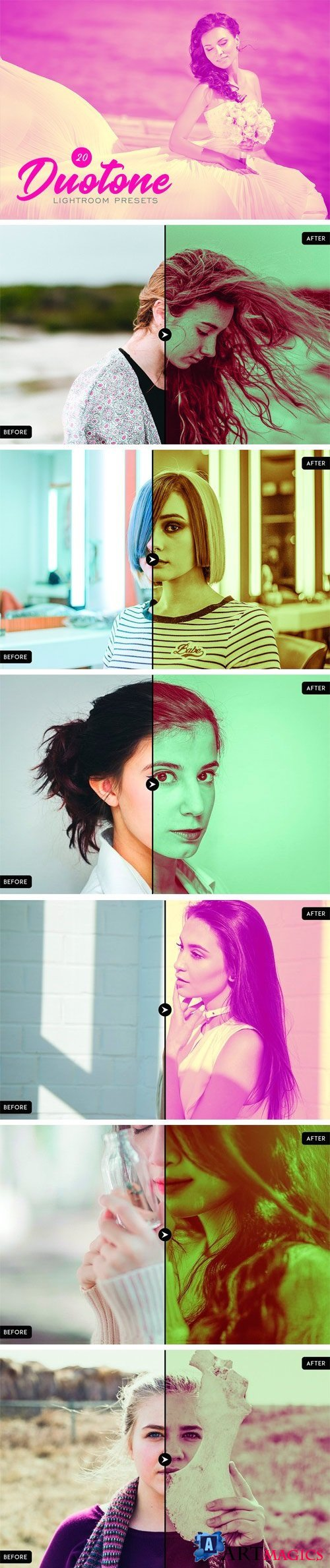 20 Duotone Lightroom Presets 1865684
