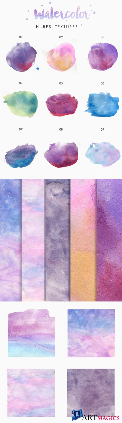 Hi-Res Watercolor Textures, part 2