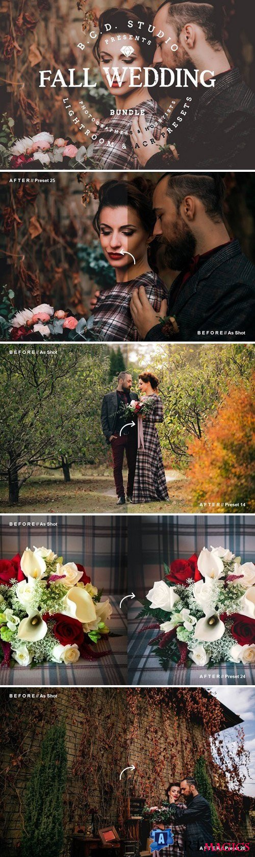 30 Fall Wedding LR & PS Presets 1820011