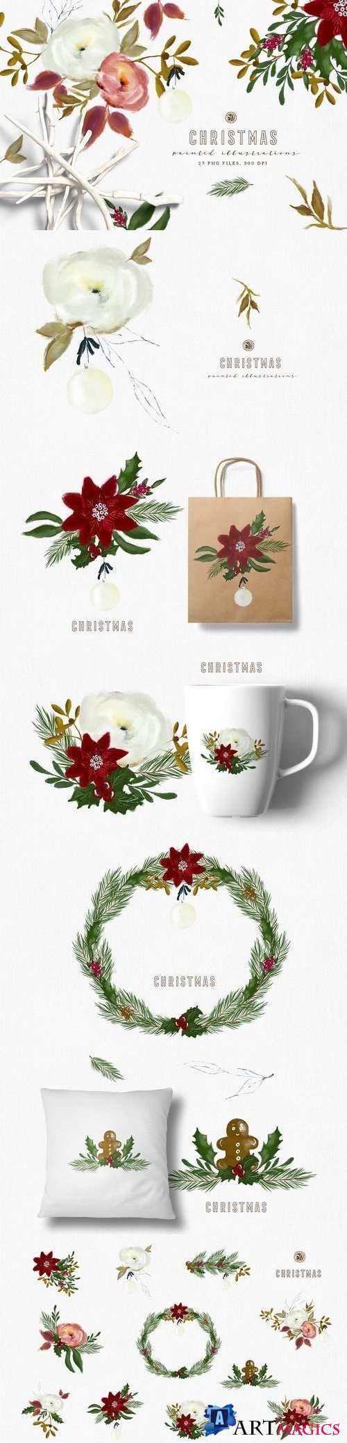 Christmas Paint Illustrations - 1882133