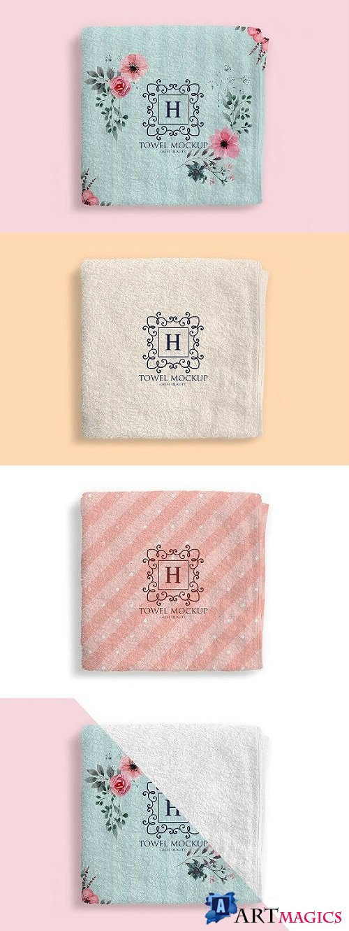 Folded Towel Mockup 1904241