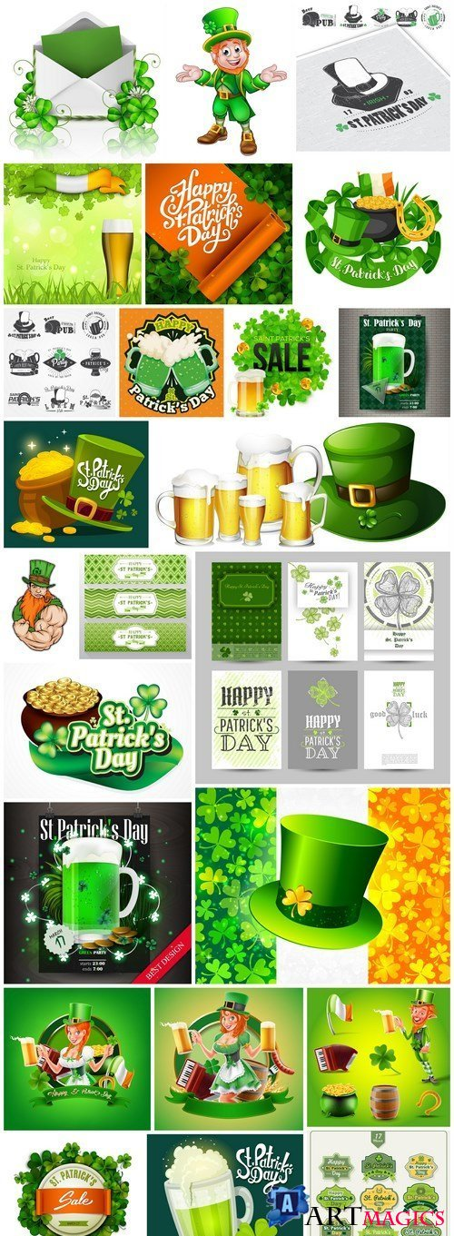 St. Patricks Day Irish Style #2 - 25 Vector