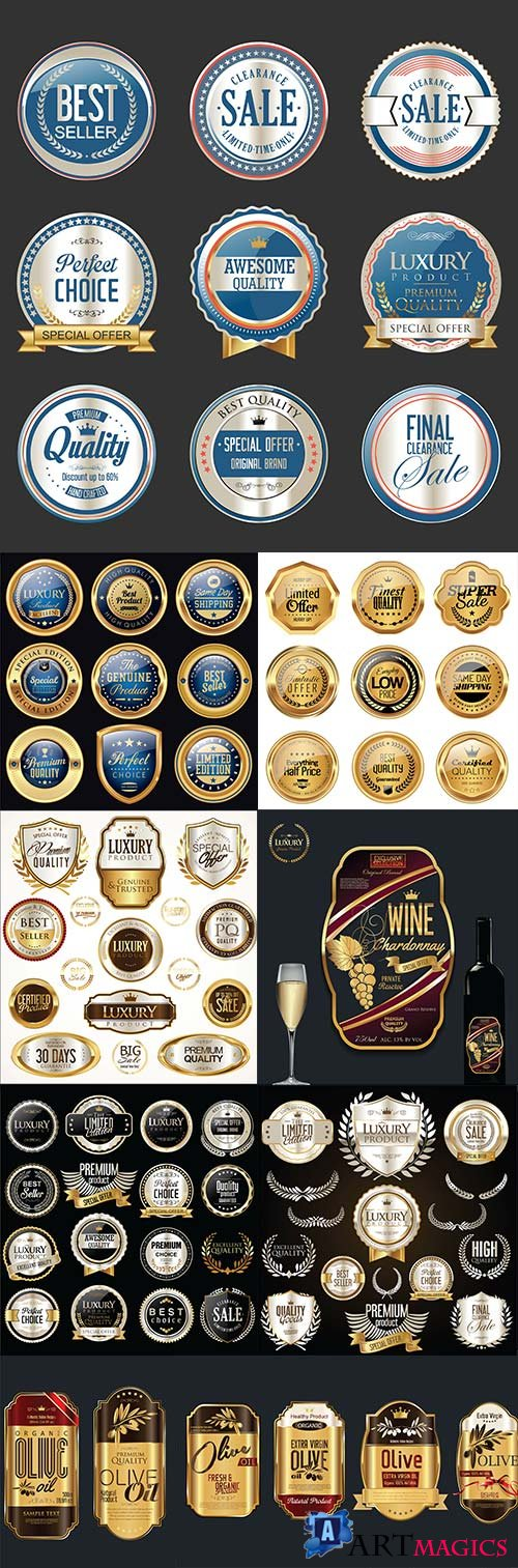 Premium and luxury quality decorative badges and labels 15