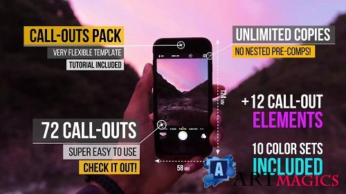 72 Call-Out Titles Ultimate Pack 46171 - After Effects Templates