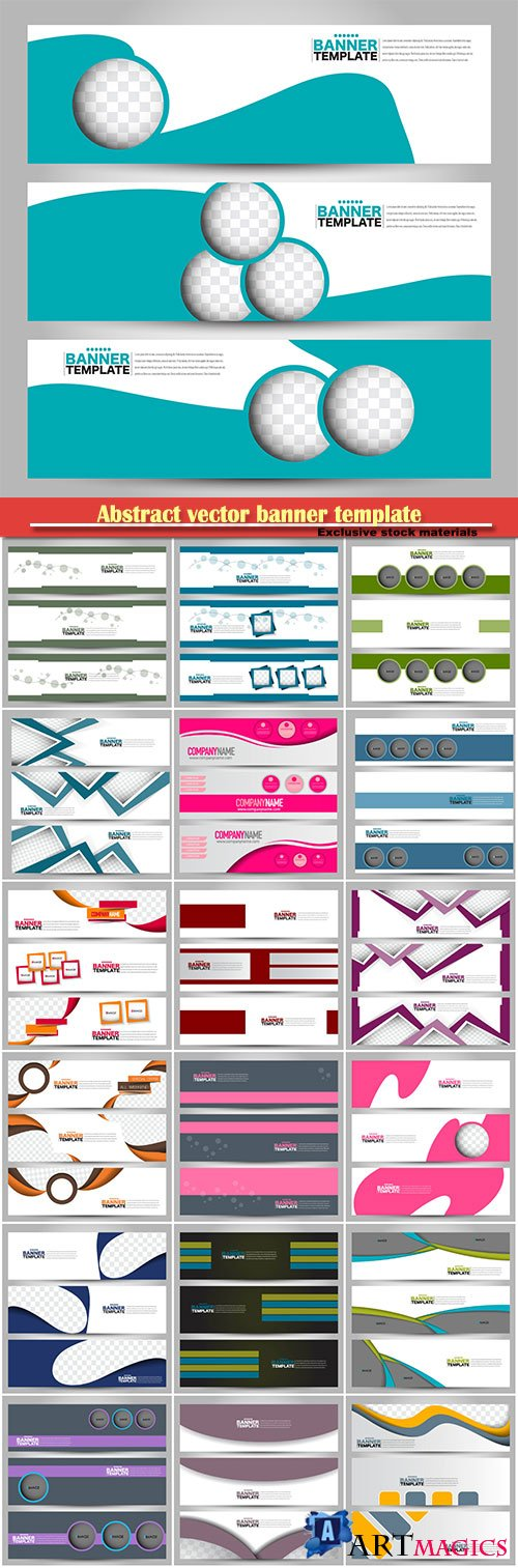 Abstract vector banner template, background for design,  business, education, advertisement