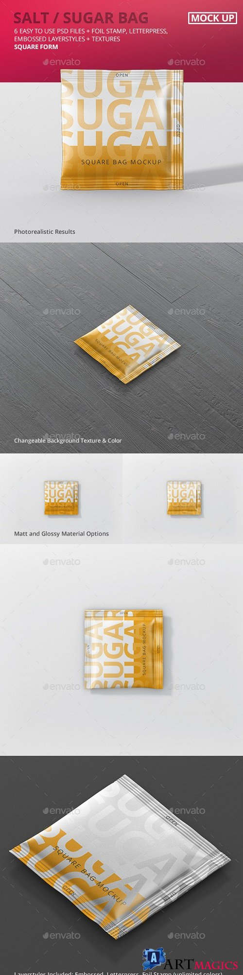 Salt / Sugar Bag Mockup - Square - 20620545