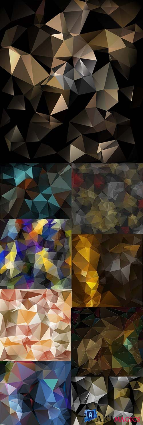 Abstract modern Polygon geometric background 4
