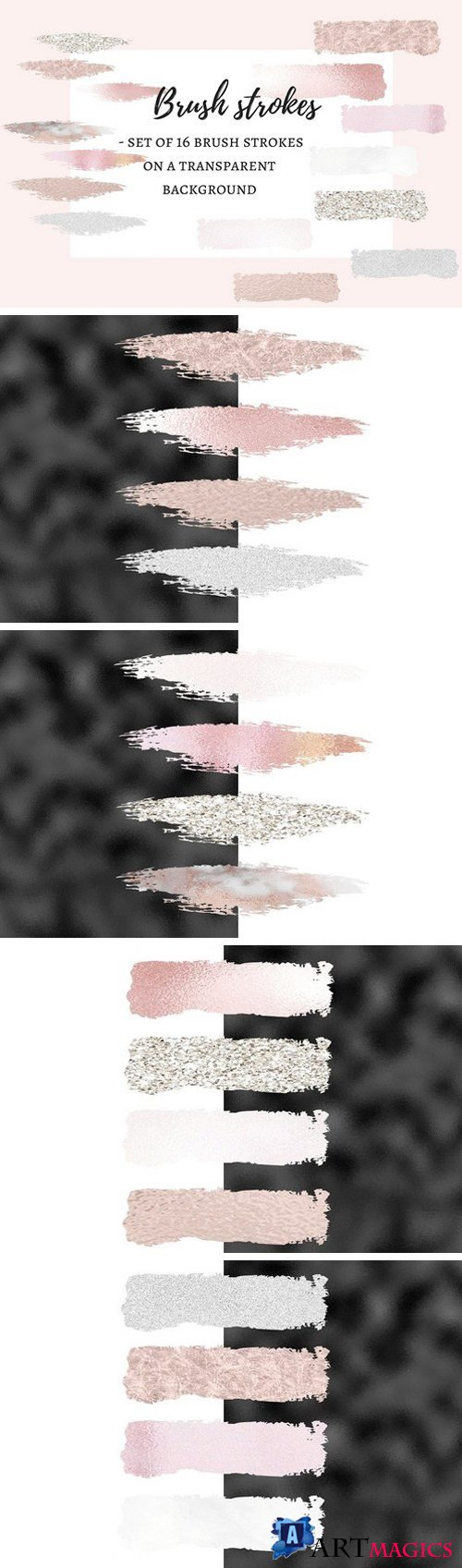 16 Brush strokes clipart 1909054