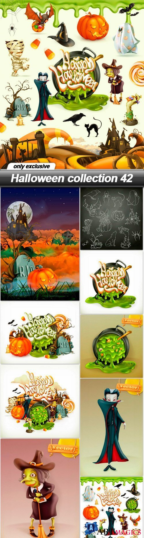 Halloween collection 42 - 10 EPS