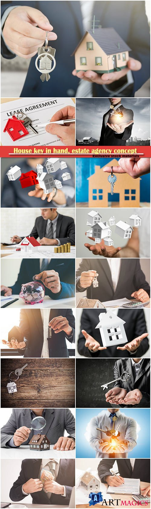 House key in hand, estate agency concept