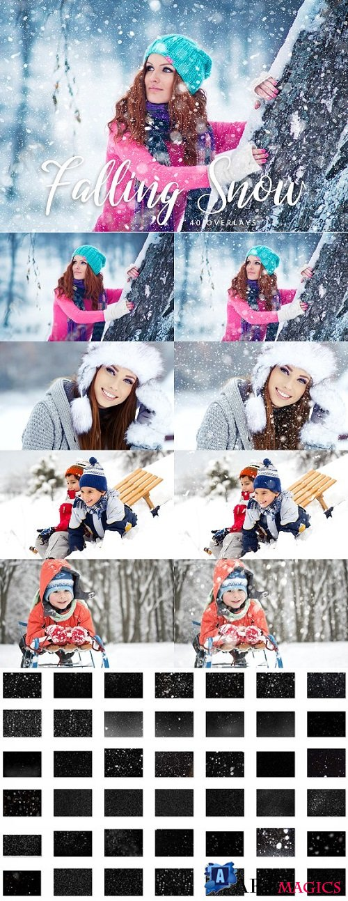 Snow Overlays - 40 Overlays - 2001642