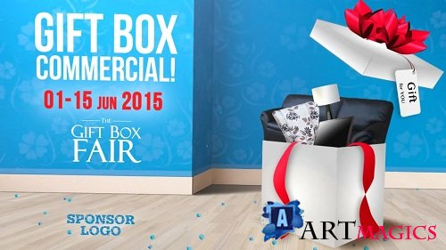 Gift Box Commercial - After Effects Templates