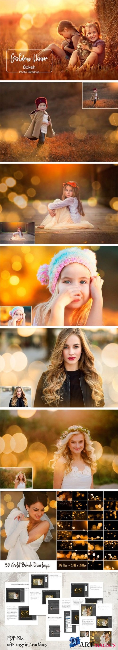 Gold Bokeh Overlays - 2022437