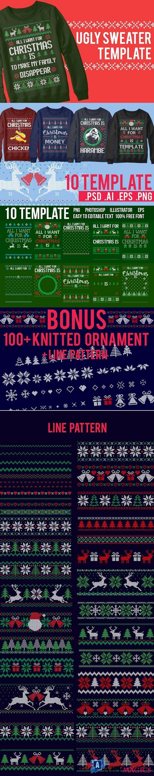 Ugly Sweater Templates - 2000928