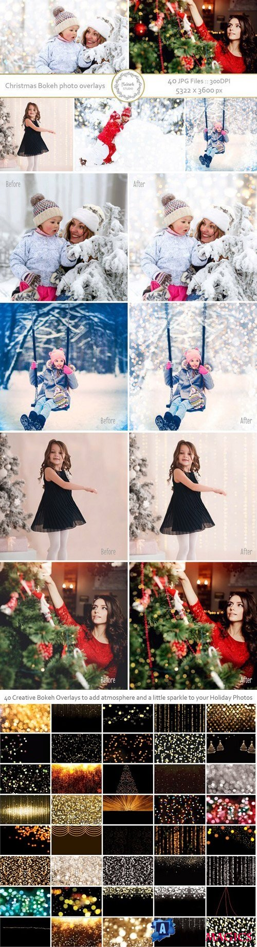 Christmas Bokeh Photo Overlays 2006479