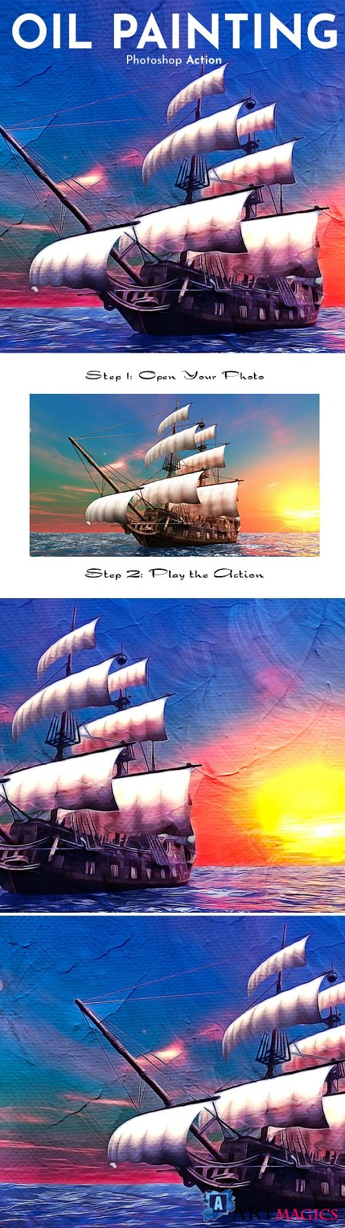 Oil Painting Photoshop Action 20962486