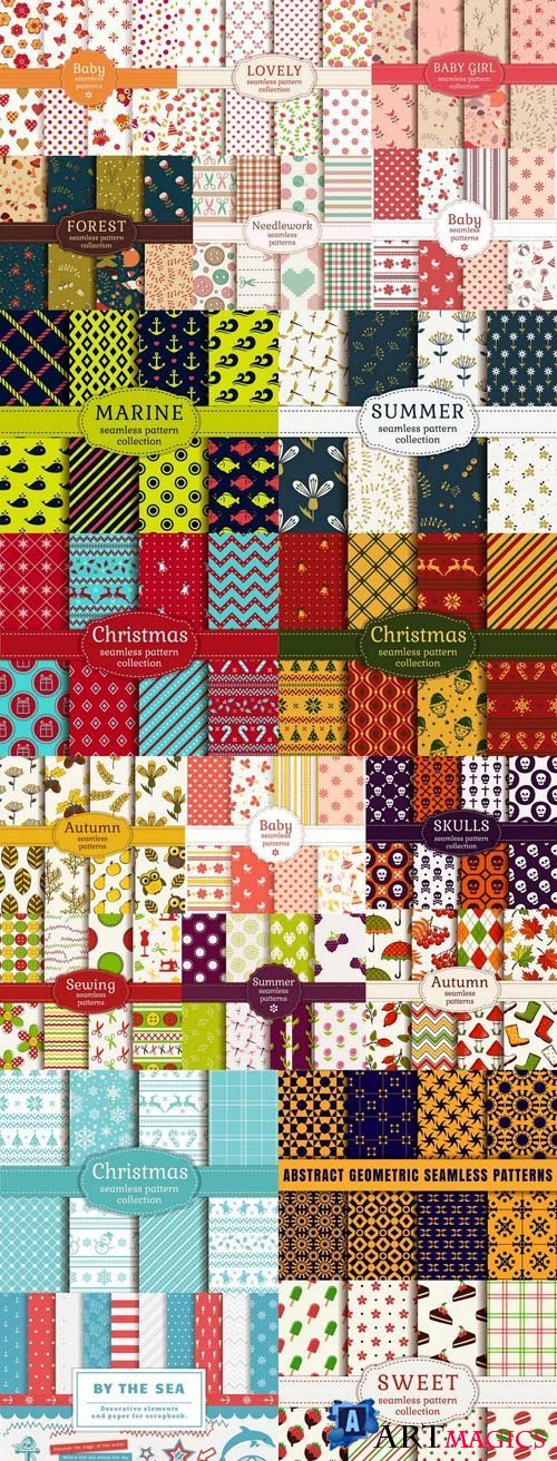 Seamless Pattern Collection #136 - 20 Vector